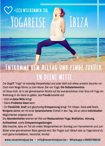 Annika Sukup Never Mind Just Be Yoga Retreat Ibiza